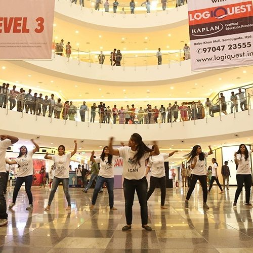 We can. I can – Cancer Awareness Flash Mob At Sujana Forum Mall